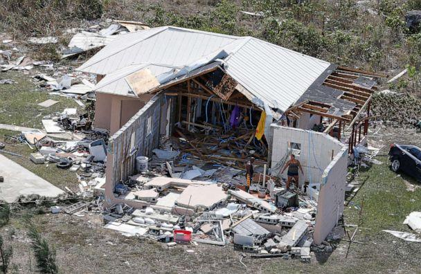 PHOTO: Residents look through the remains of a home after hurricane Dorian hit the Grand Bahama Island in the Bahamas, Sept. 4, 2019. (Joe Skipper/Reuters)