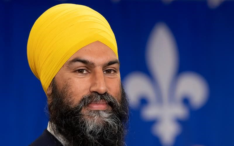 NDP Leader Singh tells Quebec TV audience he shares province's values, won't touch Bill 21