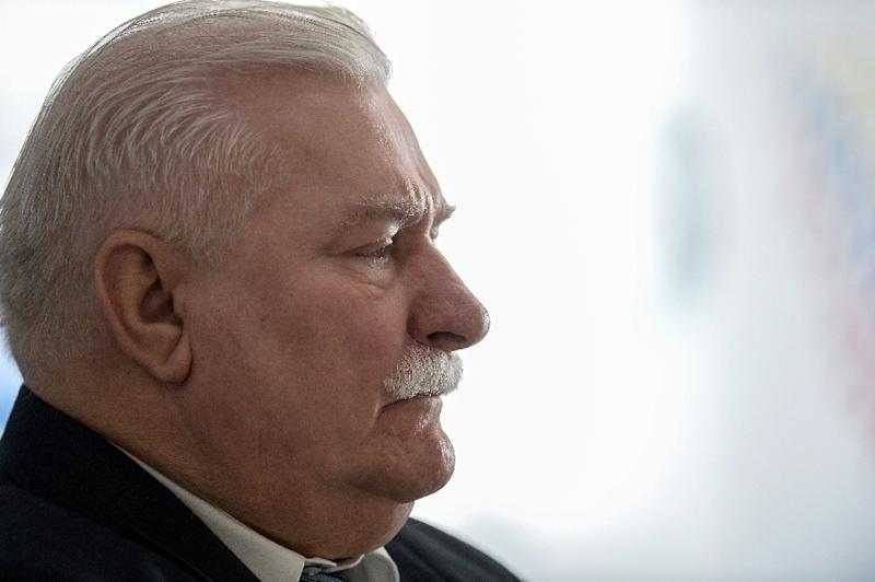"""Former Polish president and Nobel Peace laureate Lech Walesa, seen in 2016, said powerful right-wing politician Jaroslaw Kaczynski """"wants to eliminate everything that disturbs him -- the constitutional court, the courts, parliament"""""""