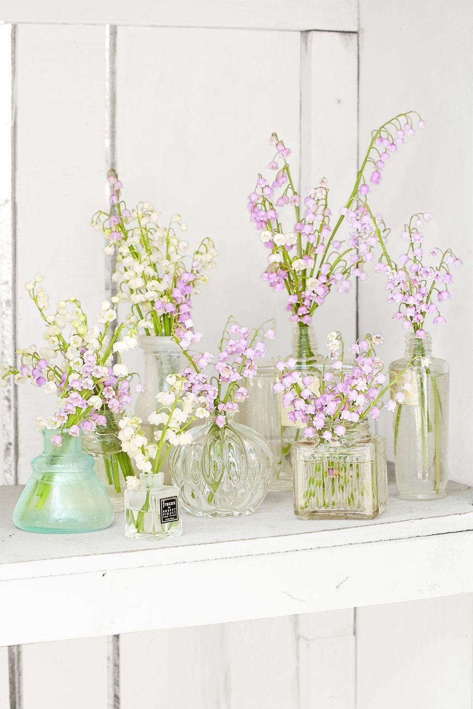 "<p>Don't throw out those empty perfume bottles sitting on your vanity! Lilies of the valley look beautiful arranged in these glass vessels, and they're perfect for Easter.</p><p><a class=""link rapid-noclick-resp"" href=""https://www.amazon.com/Vintage-Refillable-Perfume-Bottles-Wedding/dp/B01L6DCIQ8?tag=syn-yahoo-20&ascsubtag=%5Bartid%7C10050.g.1652%5Bsrc%7Cyahoo-us"" rel=""nofollow noopener"" target=""_blank"" data-ylk=""slk:SHOP EMPTY PERFUME BOTTLES"">SHOP EMPTY PERFUME BOTTLES</a></p>"