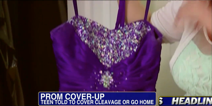 The neckline was deemed to revealing. Photo: Fox News