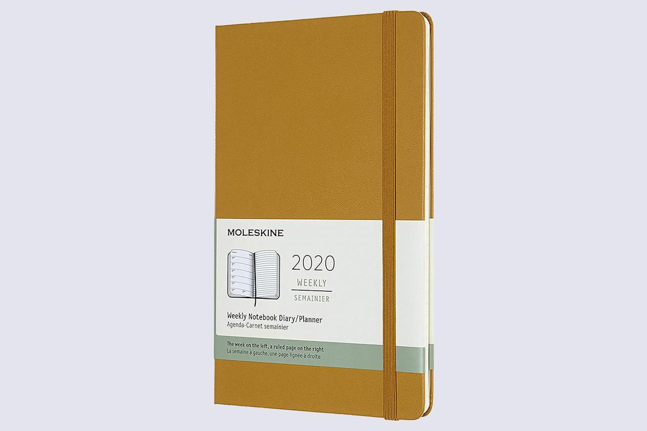 "<p>Sans frills, this Moleskine agenda's simple design is perfect for someone looking for a no-nonsense planner to help them keep appointments straight. The weekly planner works best if you have just a few things going on per day or per week; the daily variety, on the other hand, is much more comprehensive. The hardcover holds up to wear and tear, too.</p> <p><strong><em>Shop Now: </em></strong><em>Moleskine 12 Month Large Weekly Planner in Ripe Yellow, $22.95, <a href=""https://www.amazon.com/Moleskine-Month-Weekly-Notebook-Yellow/dp/B07J3B7DBZ/ref=as_li_ss_tl?ie=UTF8&amp;linkCode=ll1&amp;tag=msllifebestnewplannerschdec19-20&amp;linkId=b7beb3c2a9e3aeae0fd3a3ca60e35ed5"">amazon.com</a>.</em></p>"