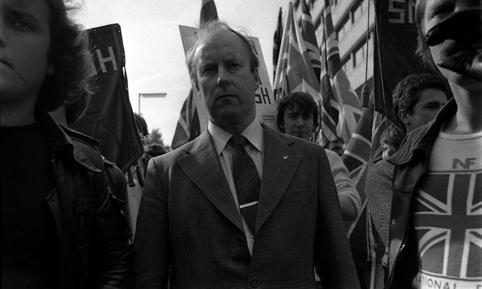 National Front leader John Tyndall in 1979 (Photo: PA Archive/PA Images)