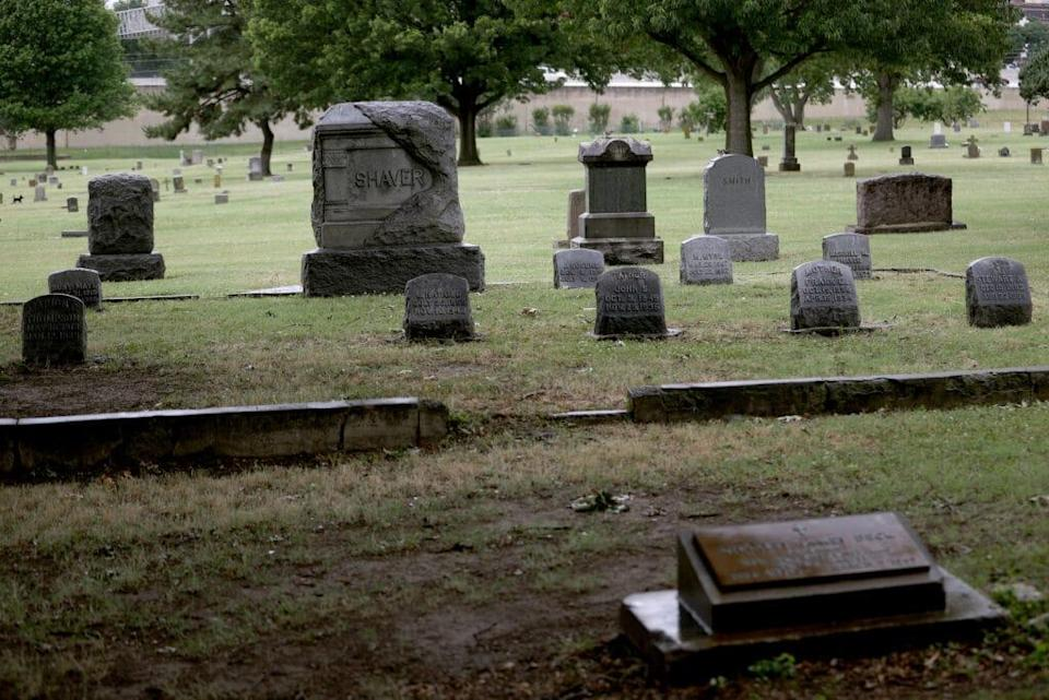 The Oaklawn Cemetery is seen on June 19, 2020 in Tulsa, Oklahoma. (Photo by Win McNamee/Getty Images)
