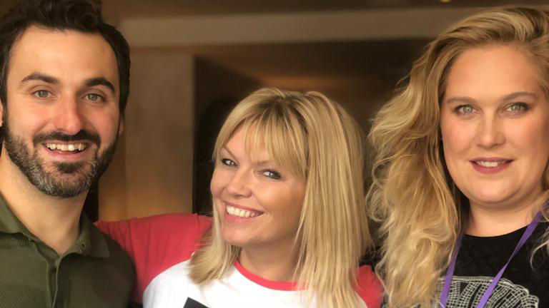 Comedians Patrick Monahan and Lucy Frederick chatted to Kate Thornton on podcast White Wine Question Time.