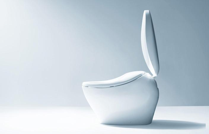 This toilet may look minimal in its design, but it's quite advanced when it comes to its functionality. First, and perhaps most important, the Neorest is an antibacterial masterpiece. Built with bright Actilight technology—a bacteria-neutralizing ultraviolet light—and a titanium dioxide-fired bowl, this toilet breaks down even the tiniest of waste particles, making cleaning your commode a chore of the past. It also features front and rear water washing with a remote-controlled temperature and pressure control. Not to worry—there's also a dryer setting.