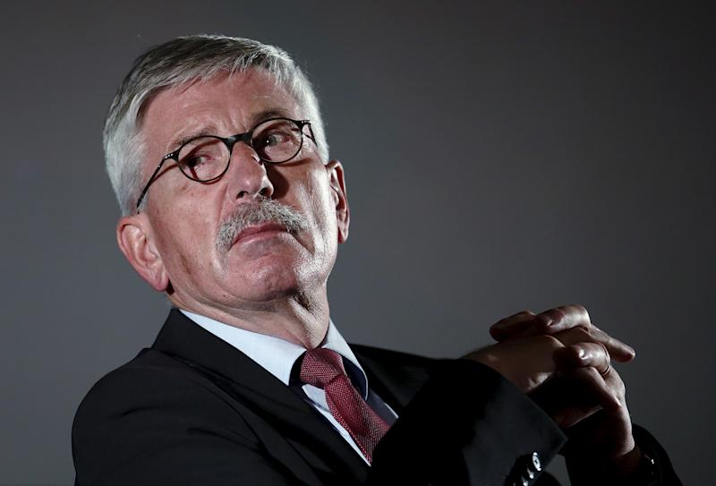 Former German central bank executive and author Thilo Sarrazin listens during a discussion event on migration in Vienna, Austria, October 6, 2015. REUTERS/Heinz-Peter Bader