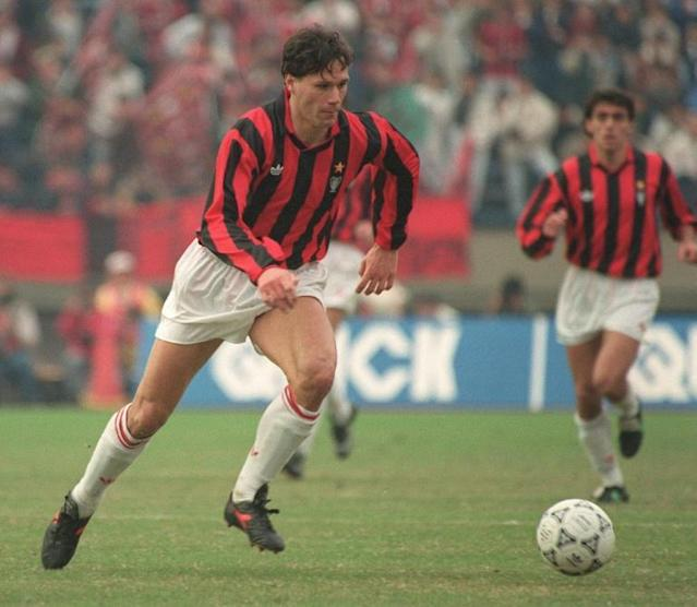 Van Basten won three Serie A titles and two European Cups with AC Milan before his career was cut short by injury (AFP Photo/TOSHIFUMI KITAMURA)