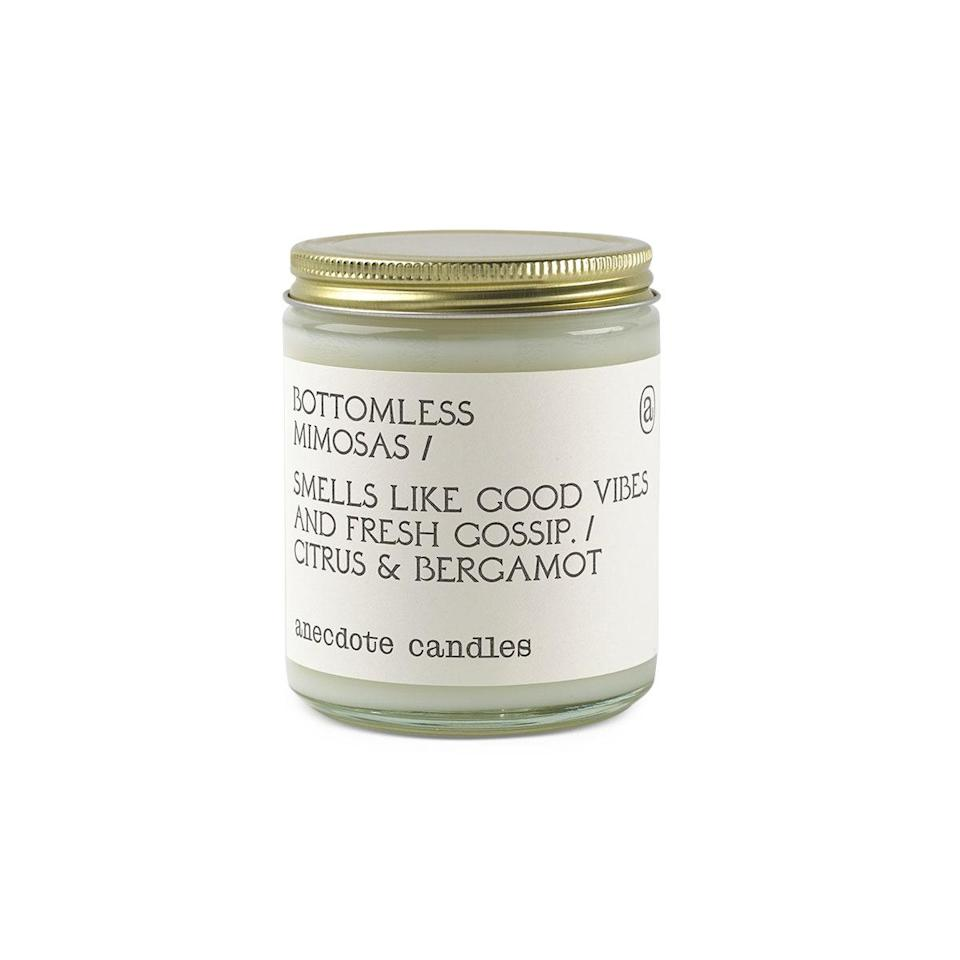 """$24, Uncommon Goods. <a href=""""https://www.uncommongoods.com/product/anecdote-candles"""" rel=""""nofollow noopener"""" target=""""_blank"""" data-ylk=""""slk:Get it now!"""" class=""""link rapid-noclick-resp"""">Get it now!</a>"""