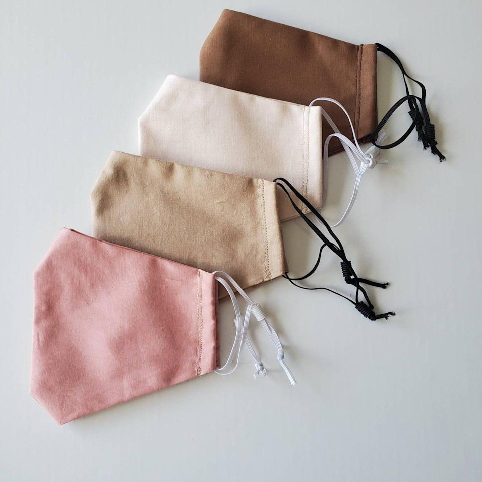 <p>These <span>Reusable Face Masks</span> ($15 each) will match your neutral fall palette.</p>