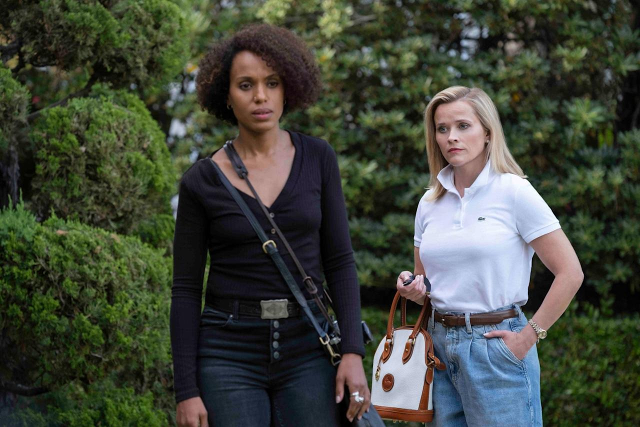"""<p>This drama series (which stars the fiery duo of <a class=""""sugar-inline-link ga-track"""" title=""""Latest photos and news for Kerry Washington"""" href=""""https://www.popsugar.co.uk/Kerry-Washington"""" target=""""_blank"""" data-ga-category=""""internal click"""" data-ga-label=""""https://www.popsugar.co.uk/Kerry-Washington"""" data-ga-action=""""body text link"""">Kerry Washington</a> and <a class=""""sugar-inline-link ga-track"""" title=""""Latest photos and news for Reese Witherspoon"""" href=""""https://www.popsugar.co.uk/Reese-Witherspoon"""" target=""""_blank"""" data-ga-category=""""internal click"""" data-ga-label=""""https://www.popsugar.co.uk/Reese-Witherspoon"""" data-ga-action=""""body text link"""">Reese Witherspoon</a>) is based on Celeste Ng's novel of the same name, telling the story of the seemingly perfect Robinson family and the mysterious single mother who rents their home across town with her teenage daughter. <strong>Little Fires Everywhere</strong> is so full of twists that it leaves you guessing until the very end. </p> <p><product href=""""http://www.hulu.com/series/little-fires-everywhere-bce24897-1a74-48a3-95e8-6cdd530dde4c"""" target=""""_blank"""" class=""""ga-track"""" data-ga-category=""""internal click"""" data-ga-label=""""http://www.hulu.com/series/little-fires-everywhere-bce24897-1a74-48a3-95e8-6cdd530dde4c"""" data-ga-action=""""body text link"""">Watch <strong>Little Fires Everywhere</strong> on Hulu</product>. </p>"""