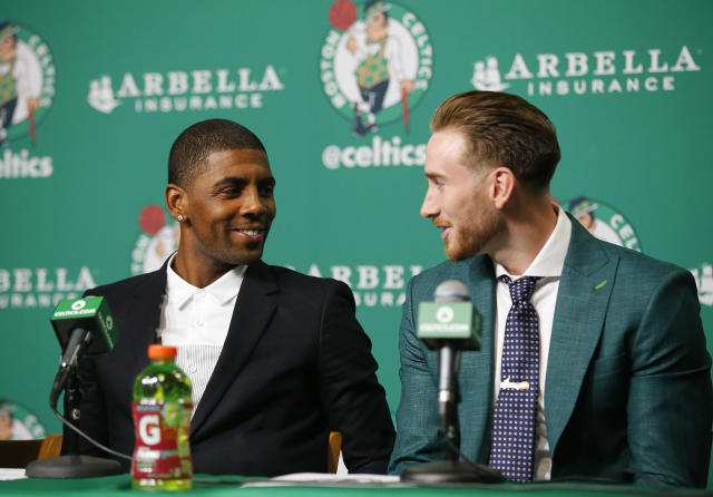 "The <a class=""link rapid-noclick-resp"" href=""/nba/teams/bos"" data-ylk=""slk:Celtics"">Celtics</a> should have <a class=""link rapid-noclick-resp"" href=""/nba/players/4724/"" data-ylk=""slk:Gordon Hayward"">Gordon Hayward</a> and <a class=""link rapid-noclick-resp"" href=""/nba/players/4840/"" data-ylk=""slk:Kyrie Irving"">Kyrie Irving</a> back for training camp. (AP Photo)"