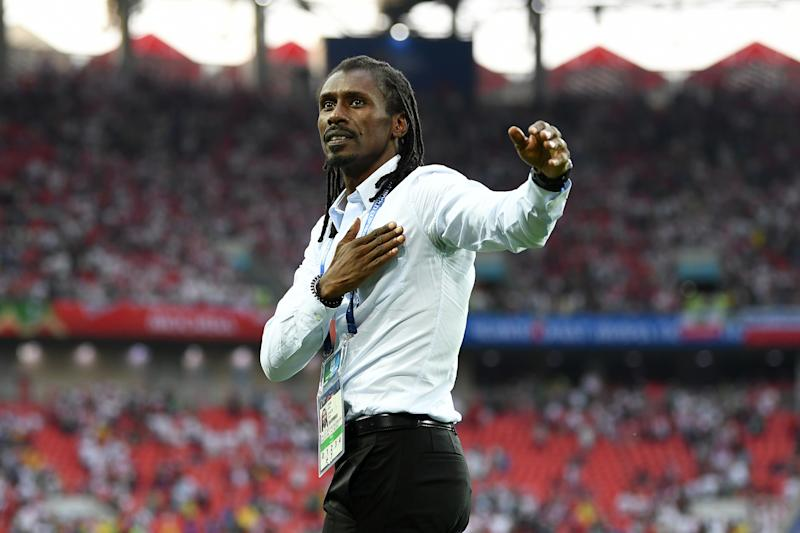 Senegal Coach's Fist Pumping Celebration Meme Is a Real World Cup Highlight