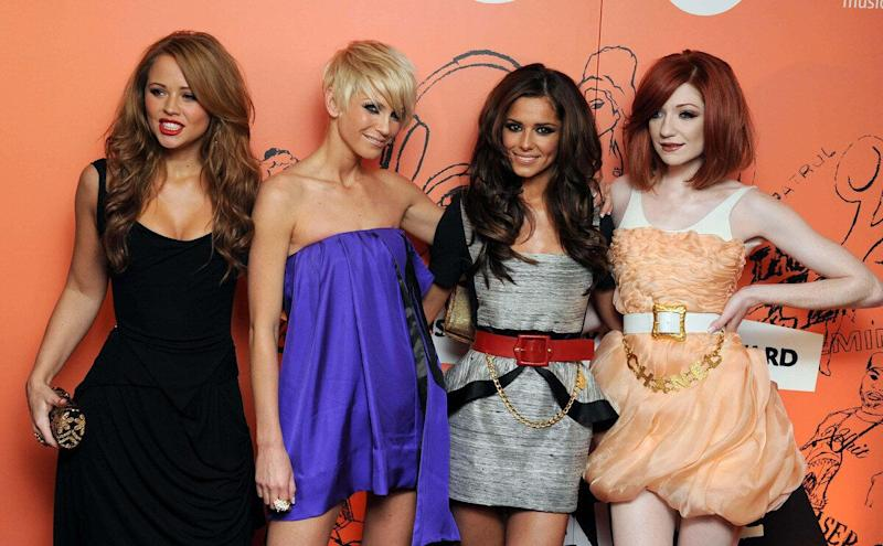 Girls Aloud arrive at the Music Industry Trusts' Award 2008 at the Grosvenor Hotel, Park Lane in central London.