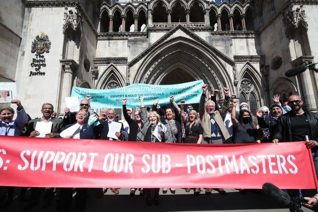 Former post office workers celebrate