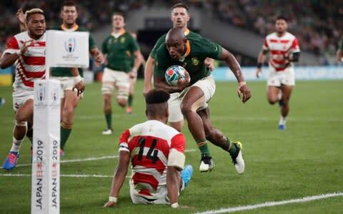 <span>Makazole Mapimpi put in a superb performance scoring two tries</span> <span>Credit: AP </span>