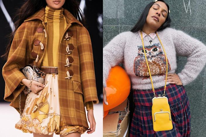 <p>Frame bags came back around again this season, proving that this ladylike style is not going anywhere. Seen in python prints (like at Zimmerman,<em> left</em>), classic leather (like at Coach, <em>right</em>), there's definitely a type for everyone. To set yourself apart from the pack, try options with modern details and interesting shapes to push this trend out of the retro comfort zone.</p>