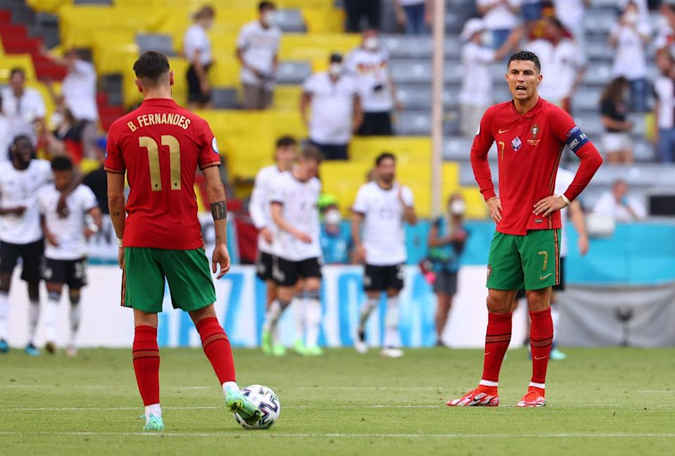 Bruno Fernandes is in a team full of stars with Portugal (Pool via REUTERS)