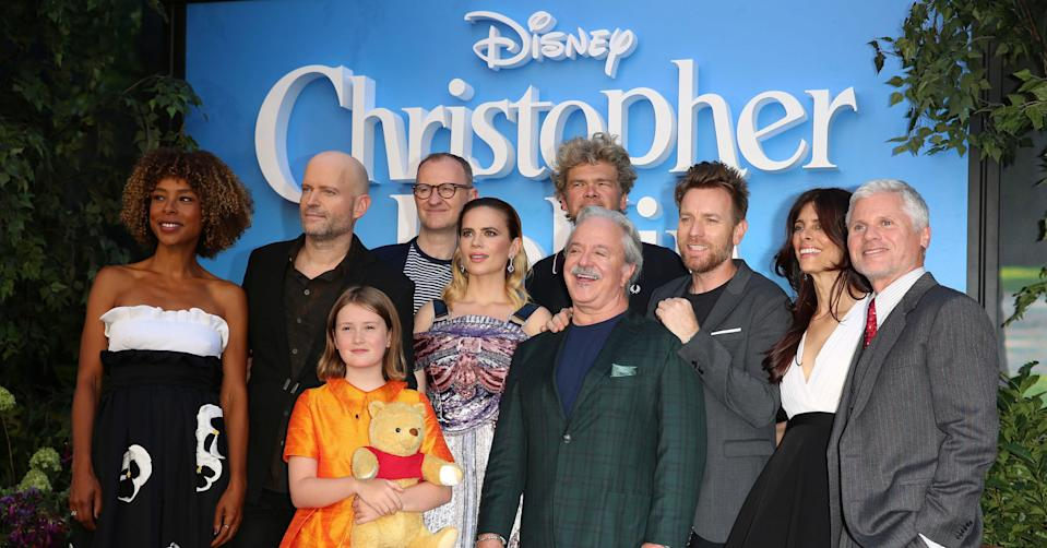 Marc Forster poses with the cast of Disney's Christopher Robin. (PA Images)