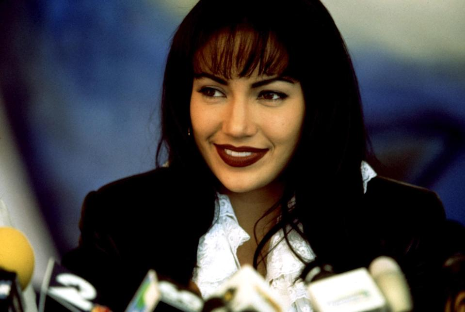 "<p>Here's the film that shot Jennifer Lopez into superstar status. She plays the role of the Mexican American icon Selena Quintanilla, who became known as the Queen of Tejano music after changing the industry with her singular sound. Sadly, the singer's life ended far too early, but this excellent biopic brings her story to life in touching detail.</p> <p><em>Available to rent on</em> <a href=""https://www.amazon.com/Selena-Jennifer-Lopez/dp/B0091XFP6G"" rel=""nofollow noopener"" target=""_blank"" data-ylk=""slk:Amazon Prime Video"" class=""link rapid-noclick-resp""><em>Amazon Prime Video</em></a><em>.</em></p>"