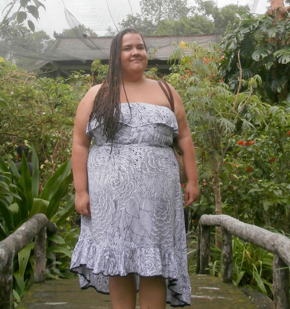 An obese woman who was once cruelly fat shamed by a teacher in front of her entire class is unrecognisable after losing 68kg and dropping 10 dress sizes. Photo: Caters News