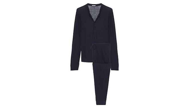 "<p>Henry The Men's PJ Set, $148, <a href=""https://www.eberjey.com/henry-pj-set.html"" rel=""nofollow noopener"" target=""_blank"" data-ylk=""slk:eberjey.com"" class=""link rapid-noclick-resp"">eberjey.com</a> </p>"