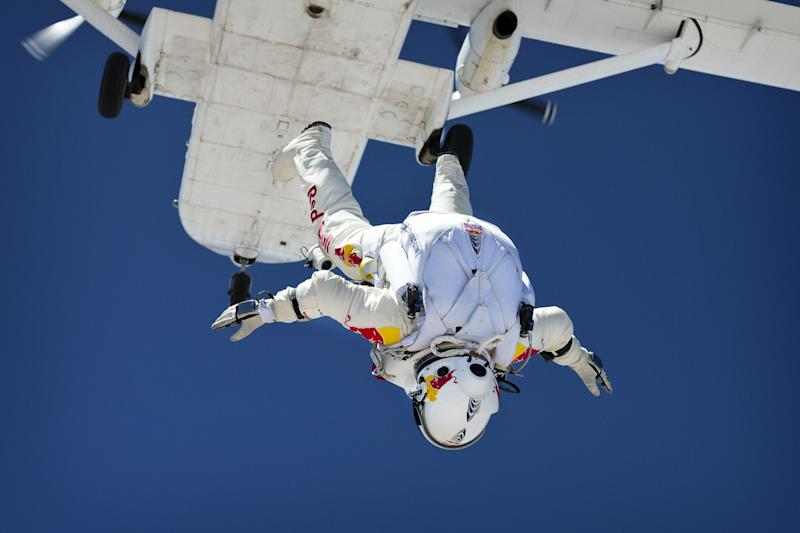 Felix Baumgartner will attempt a mission no man has tried before. (Red Bull Stratos)