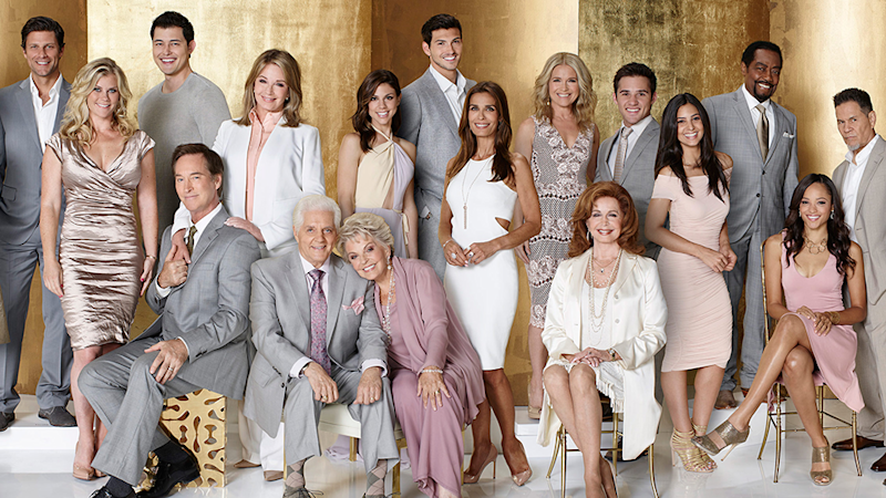 American soap Days Of Our Lives' cast pose together for a promo shoot.