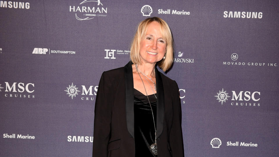 Carol McGiffin attends the MSC Bellisima Naming Ceremony on March 02, 2019. (Photo by Anthony Devlin/Getty Images for MSC Bellissima)
