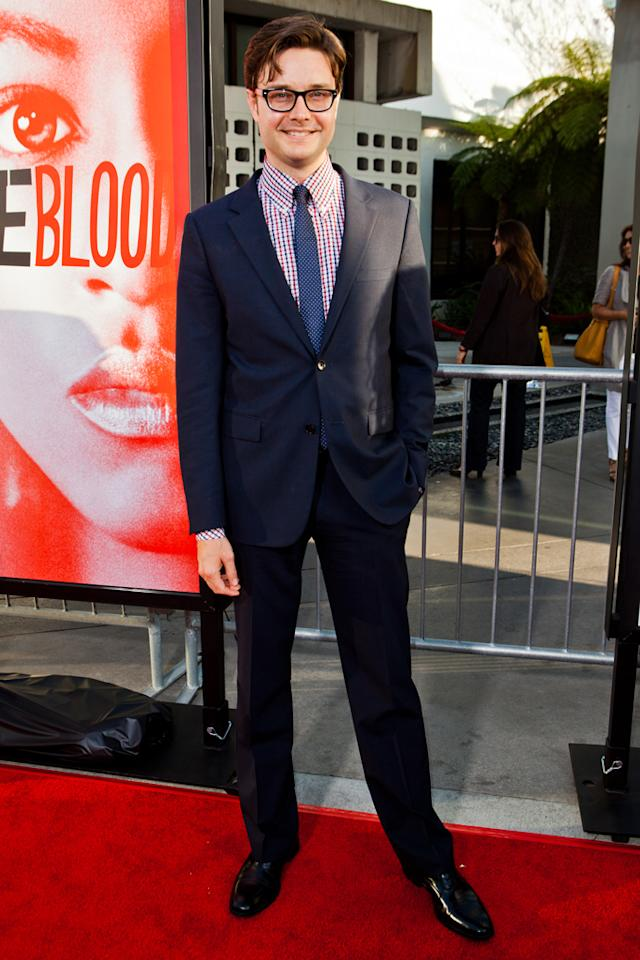 "Michael McMillian attends HBO's ""True Blood"" Season 5 Los Angeles premiere at ArcLight Cinemas Cinerama Dome on May 30, 2012 in Hollywood, California."