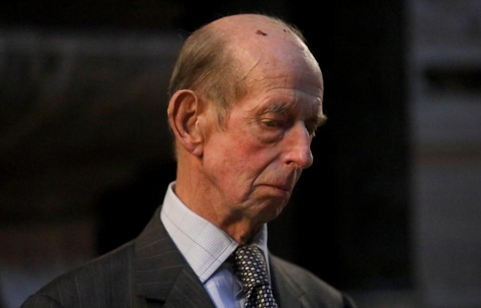 LONDON, ENGLAND - SEPTEMBER 20: Prince Edward, Duke of Kent attends a service dedicated to P. G. Wodehouse in Westminster Abbey on September 20, 2019 in London, England. (Photo by Simon Dawson - Pool/Getty Images)
