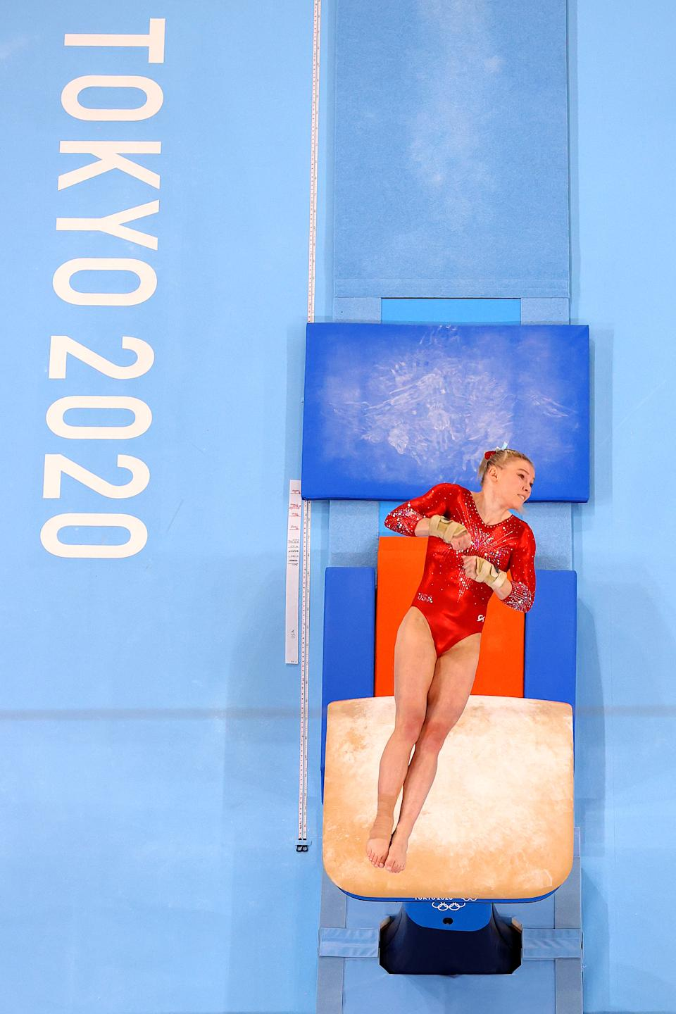 <p>Carey deferred a 2018 enrollment at Oregon State to train for the Tokyo Olympics. However, once the games were postponed, she began taking classes for the 2020 school year but deferred competing for the Beavers gymnastics team until after Tokyo.</p>