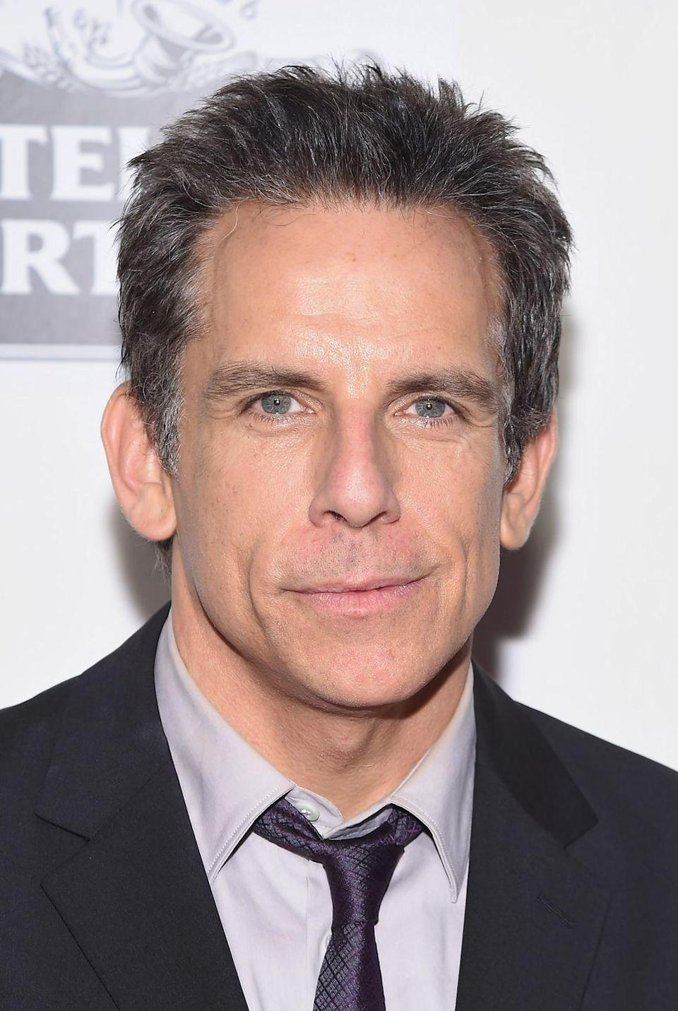 <p>Stiller's sprinkling of gray in his short cut is a lesson to us all on how to age tastefully.</p>