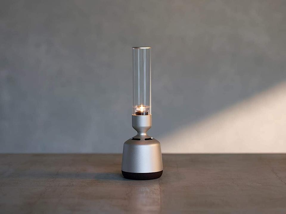 <p>The <span>Sony LSPX-S2 Glass Sound Speaker with NFC and Bluetooth</span> ($450) will give you a 360 degree sound with exceptional clarity from an organic glass tube. It can even flicker like a real candle light to set the ambiance of the room.</p>