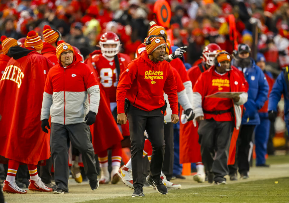 Greg Lewis with the Chiefs.