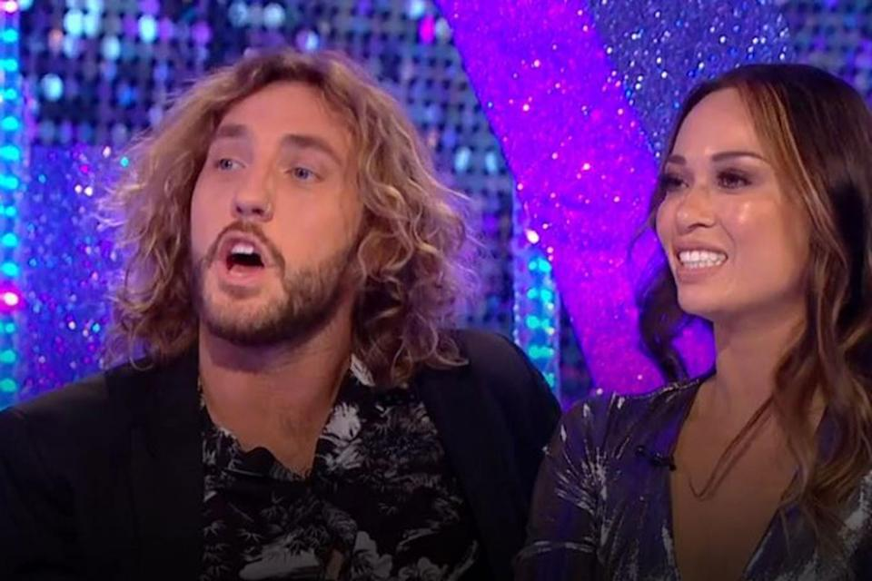 Guests: Seann Walsh and Katya Jones were on Monday's show (BBC)