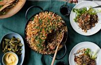 "This streamlined, somewhat lighter cassoulet employs French green lentils, bacon, and smoked sausage. <a href=""https://www.bonappetit.com/recipe/lentil-and-garlic-sausage-cassoulet?mbid=synd_yahoo_rss"" rel=""nofollow noopener"" target=""_blank"" data-ylk=""slk:See recipe."" class=""link rapid-noclick-resp"">See recipe.</a>"