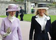"""<p><a href=""""https://www.townandcountrymag.com/society/tradition/a26577385/princess-michael-of-kent-facts/"""" rel=""""nofollow noopener"""" target=""""_blank"""" data-ylk=""""slk:Princess Michael of Kent"""" class=""""link rapid-noclick-resp"""">Princess Michael of Kent</a>'s husband, Prince Michael, inherited this Cartier brooch—a pansy motif featuring sapphires, emeralds, and black pearls—from his mother, Princess Marina.</p>"""