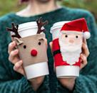 """<p>It's easy to make a couple of friends who help that peppermint mocha go down without burning your hands. These also make for excellent homemade stocking stuffers.</p><p> <em><a href=""""https://liagriffith.com/felt-christmas-coffee-cup-cozies/"""" rel=""""nofollow noopener"""" target=""""_blank"""" data-ylk=""""slk:Get the tutorial at Lia Griffith »"""" class=""""link rapid-noclick-resp"""">Get the tutorial at Lia Griffith »</a></em></p>"""