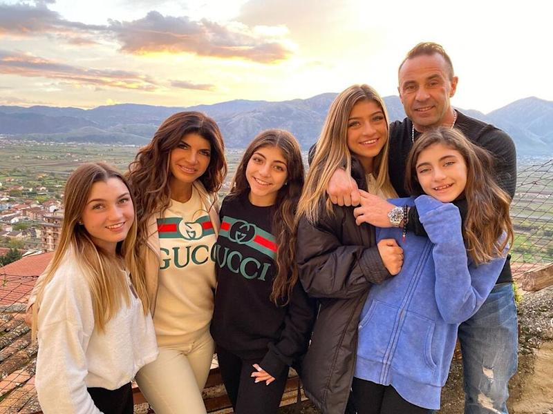 Teresa and Joe Giudice with their four daughters | Joe Giudice/ Instagram