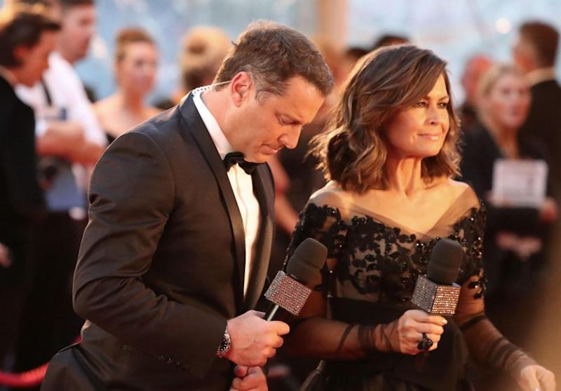 Lisa Wilkinson resigned from Today over an equal pay dispute. She is pictured here with Karl at the 2017 Logie Awards. Source: Getty