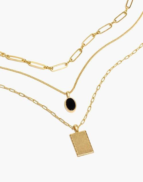 """<br><br><strong>Madewell</strong> Nightstone Necklace Set, $, available at <a href=""""https://go.skimresources.com/?id=30283X879131&url=https%3A%2F%2Fwww.madewell.com%2Fnightstone-necklace-set-NB743.html"""" rel=""""nofollow noopener"""" target=""""_blank"""" data-ylk=""""slk:Madewell"""" class=""""link rapid-noclick-resp"""">Madewell</a>"""