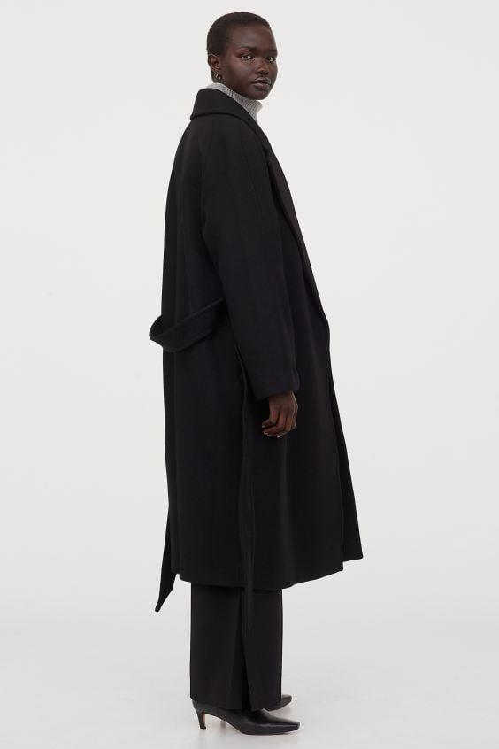 <p>Belt this <span>H&M Wool-blend Coat</span> ($199) for a chic, pulled together look.</p>