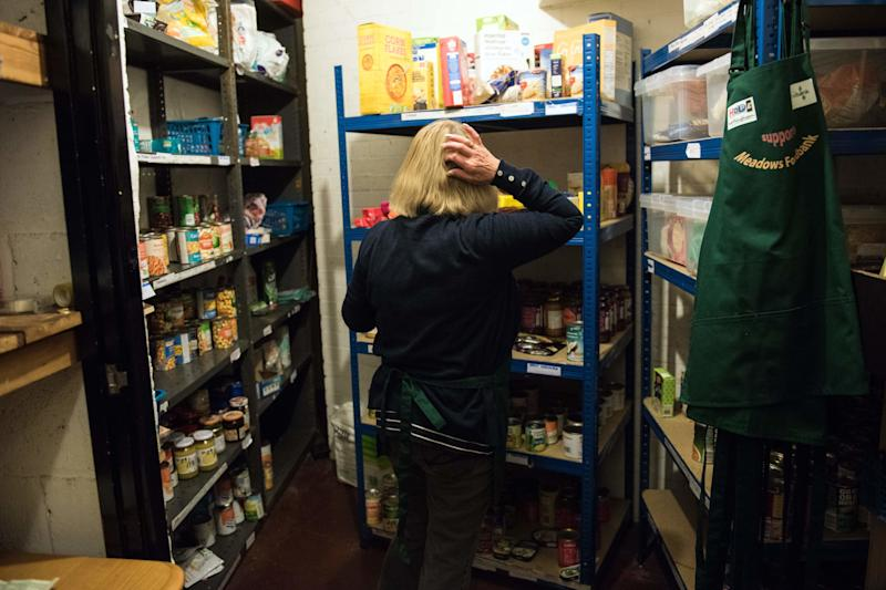 It may be the highest seat of power in the country, but Westminster Palace is still just half a mile from a foodbank. (Photo: OLI SCARFF via Getty Images)