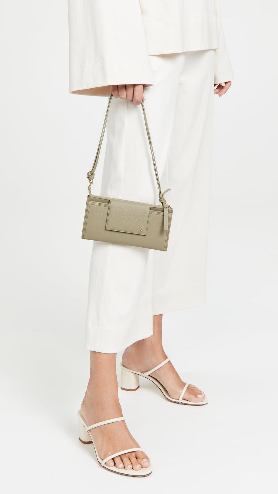 <p>If all you need if your wallet, opt for this <span>Jacquemus Le Pichoto Bag</span> ($480). It has a built-in zipper compartment and card slots.</p>
