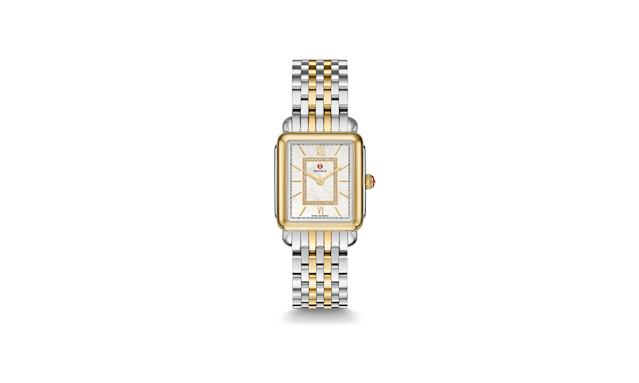 "<p>Here's a luxurious watch for those looking for something over the top.<br><br>Deco II Two-Tone Diamond Dial Watch, $1,295, <a href=""http://www.michele.com/en_US/shop/watches/gifts/mothers_day_gift_guide/deco_ii_mid_two_tone_diamond_dial_watch-MWW06I000024.html?BC="" rel=""nofollow noopener"" target=""_blank"" data-ylk=""slk:michele.com"" class=""link rapid-noclick-resp"">michele.com</a> </p>"