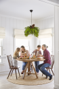 """<p>A bushel of branches and a few pinecone pieces draped over a <a href=""""https://www.countryliving.com/diy-crafts/g644/christmas-tables-1208/"""" rel=""""nofollow noopener"""" target=""""_blank"""" data-ylk=""""slk:dining room"""" class=""""link rapid-noclick-resp"""">dining room</a> light fixture make this everyday piece come alive for the holidays. Get the look by securing greenery of your choice with <a href=""""https://www.amazon.com/Stren-SHIQS10-15-Impact-Monofilament-Fishing/dp/B00NWD4NMI/?tag=syn-yahoo-20&ascsubtag=%5Bartid%7C10050.g.1247%5Bsrc%7Cyahoo-us"""" rel=""""nofollow noopener"""" target=""""_blank"""" data-ylk=""""slk:fishing line"""" class=""""link rapid-noclick-resp"""">fishing line</a>. </p><p><a class=""""link rapid-noclick-resp"""" href=""""https://www.amazon.com/12-Ponderosa-Decorative-UNSCENTED-Displays/dp/B016YWC15Y/?tag=syn-yahoo-20&ascsubtag=%5Bartid%7C10050.g.1247%5Bsrc%7Cyahoo-us"""" rel=""""nofollow noopener"""" target=""""_blank"""" data-ylk=""""slk:SHOP PINECONES"""">SHOP PINECONES</a></p>"""