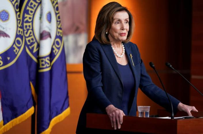 Speaker of the House Nancy Pelosi (D-CA) holds news conference at the U.S. Capitol in Washington