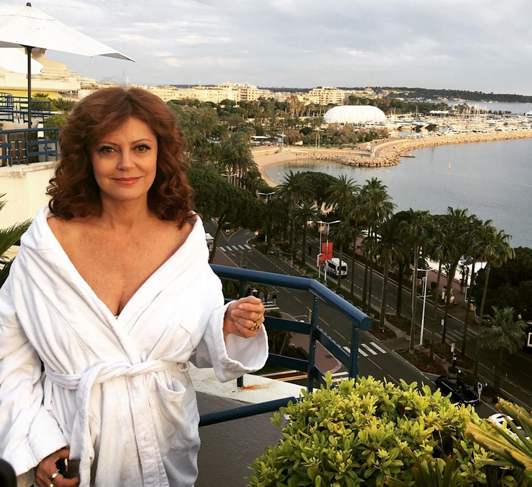 <p>The face of a woman who knows Cannes is half-work, half-play.</p>