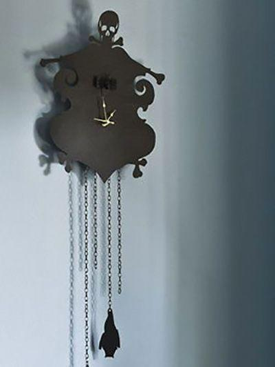 """<p>Craft your own cuckoo clock with just a couple of inexpensive materials, such as a clock kit and black cardboard. </p><p><em><a href=""""https://www.womansday.com/home/crafts-projects/how-to/a3036/halloween-decoration-cuckoo-clock-21256/"""" rel=""""nofollow noopener"""" target=""""_blank"""" data-ylk=""""slk:Get the tutorial for Cuckoo Clock."""" class=""""link rapid-noclick-resp"""">Get the tutorial for Cuckoo Clock.</a></em></p><p><strong>What You'll Need</strong>: <a href=""""https://www.amazon.com/Glue-Gun-TopElek-Temperature-Projects/dp/B0776MFZ2W/ref=sr_1_1_sspa?keywords=hot+glue+gun&qid=1563291779&s=gateway&sr=8-1-spons&psc=1&tag=syn-yahoo-20&ascsubtag=%5Bartid%7C10070.g.2488%5Bsrc%7Cyahoo-us"""" rel=""""nofollow noopener"""" target=""""_blank"""" data-ylk=""""slk:Hot glue gun"""" class=""""link rapid-noclick-resp"""">Hot glue gun</a> ($12, Amazon); <a href=""""https://www.amazon.com/Mudder-Movement-Mechanism-Maximum-Thickness/dp/B01A6OYWHQ/ref=sr_1_1_sspa?keywords=clock+kit&qid=1563291822&s=gateway&sr=8-1-spons&psc=1&tag=syn-yahoo-20&ascsubtag=%5Bartid%7C10070.g.2488%5Bsrc%7Cyahoo-us"""" rel=""""nofollow noopener"""" target=""""_blank"""" data-ylk=""""slk:Clock kit"""" class=""""link rapid-noclick-resp"""">Clock kit</a> ($8, Amazon)</p>"""
